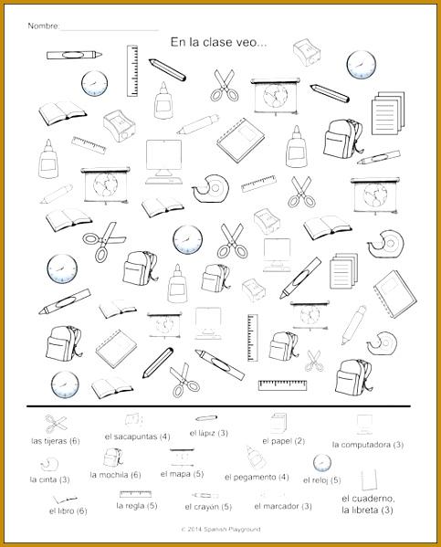 Spanish Classroom Vocabulary Picture Search Spanish Classroom ActivitiesPreschool SpanishListening ActivitiesTeaching 599483