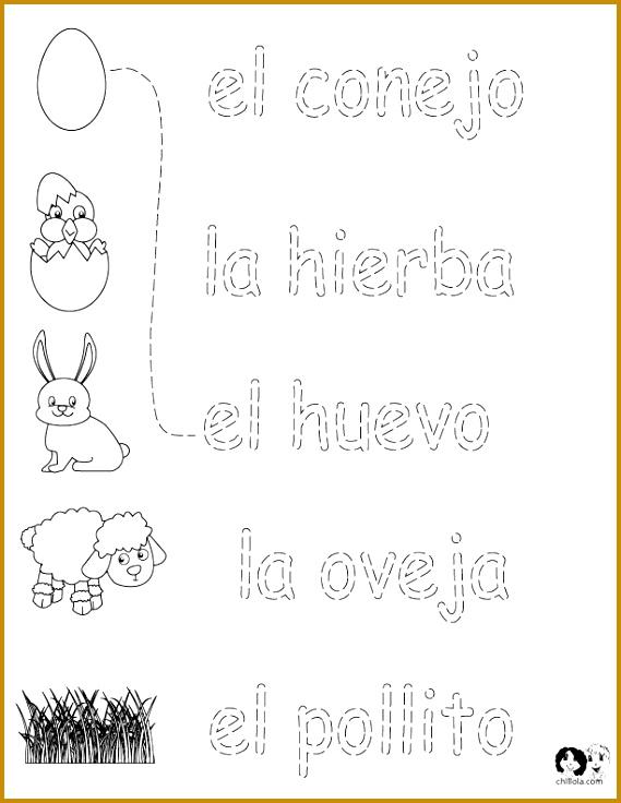 FREE Spanish Worksheets for Kids Spring Printout Spanish Spanish Activities for Children 569736