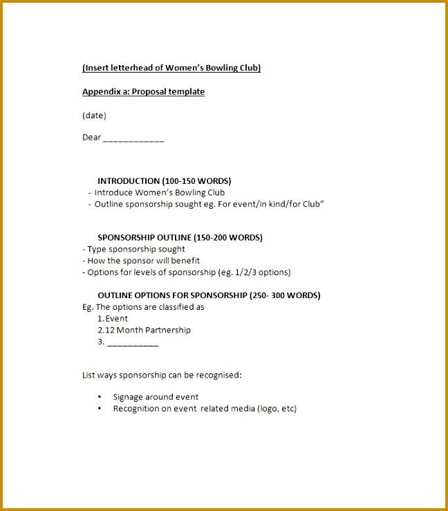 40 Sponsorship Letter & Sponsorship Proposal Templates 648739