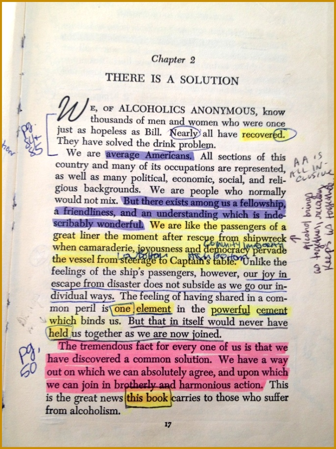"""Alcoholics Anonymous Big Book There is a Solution NOT there """"might"""" 912684"""