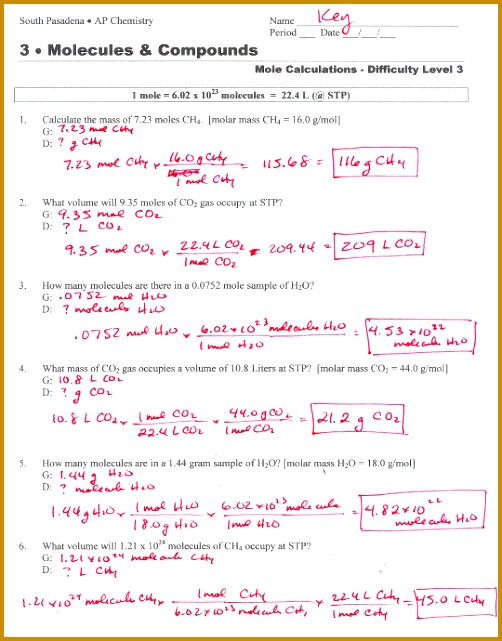 4 Stoichiometry Worksheet | FabTemplatez