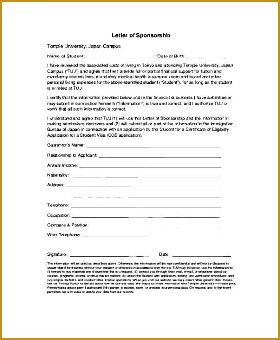sponsor letter for student Student Visa Sponsorship Letter 565686