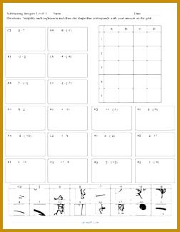 Subtracting Integers Puzzle Activity Worsheet 325252