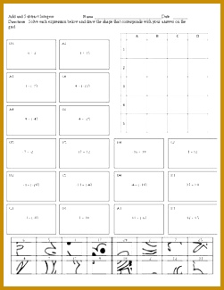 Objective Subtract integers numbers less than With this worksheet students will be engaged as they solve 18 problems by subtracting integers 325251