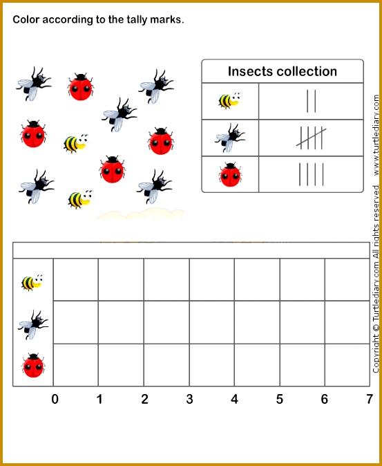 Tally Chart Worksheet 7 math Worksheets grade 1 Worksheets 674553