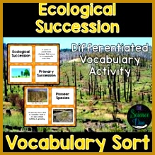 Ecological Succession Vocabulary Sort 219219