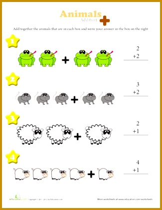 These colorful worksheets are a great way for kindergarteners to visualize addition They to 421325