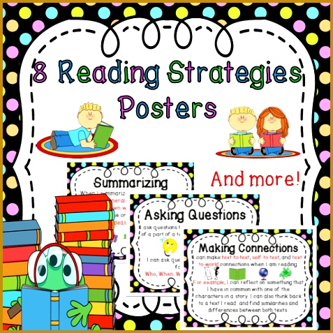 Reading Strategies Posters Summarizing Connecting Predicting Inferring &more 477477