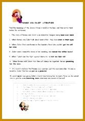 English teaching worksheets Romeo and Juliet 167238