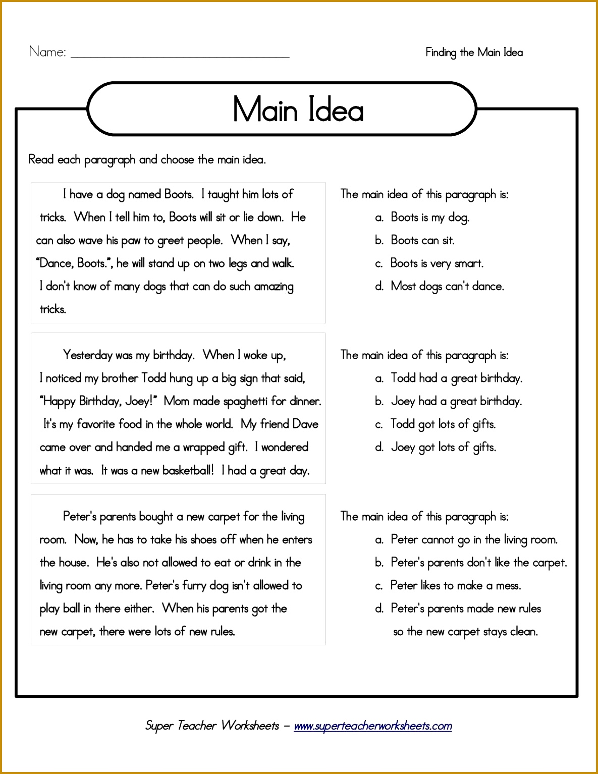 Super Teacher Worksheets Main Idea And Details 15341185