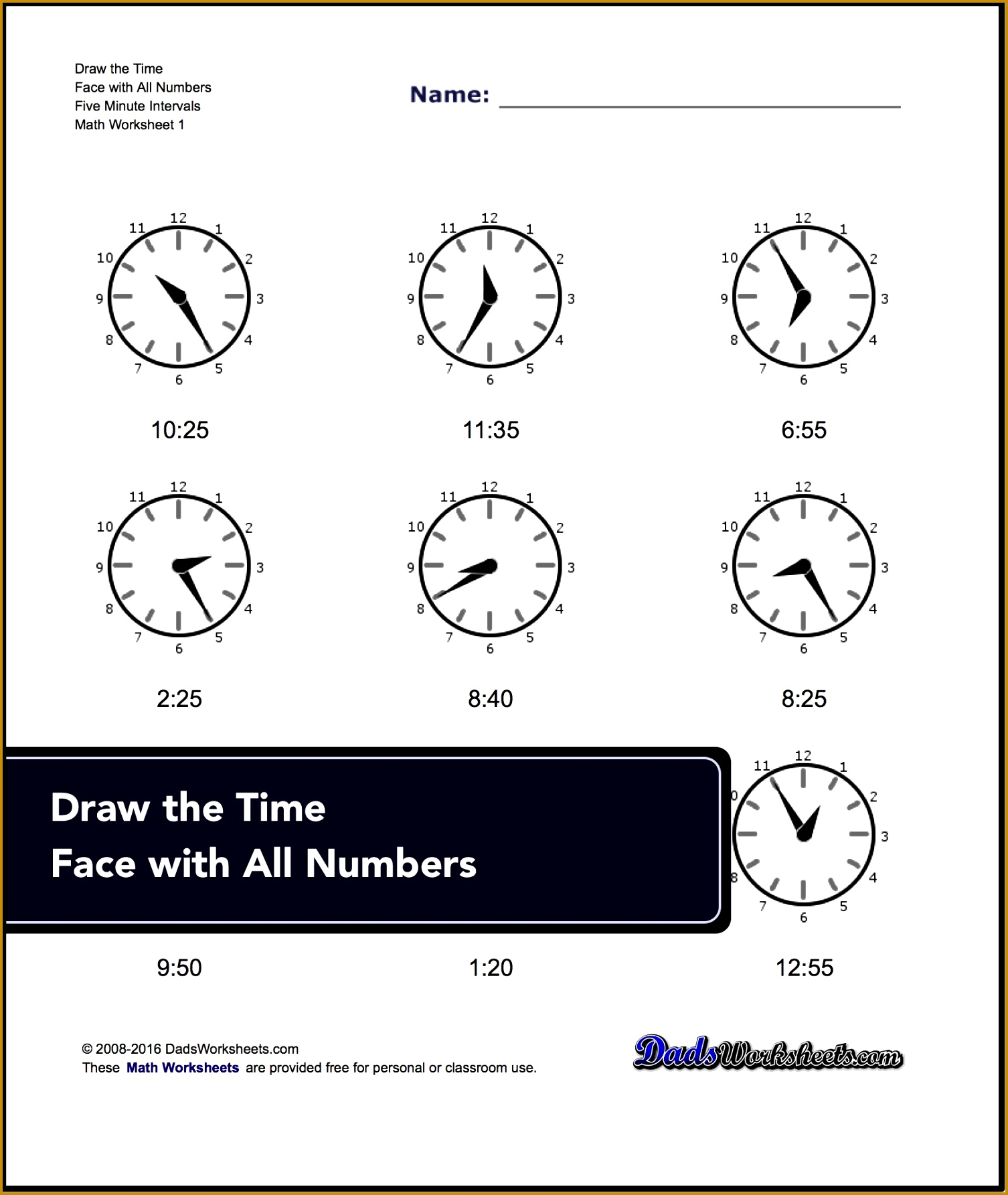 Printable PDF worksheets for telling time including reading analog clock faces and drawing analog clock faces 17851506