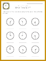 telling time worksheet 158209