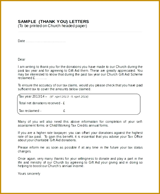 thank you for your donation letter church donation thank you letter donation letter format in india 678558