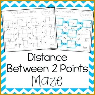 4 the Distance formula Worksheet Answers   FabTemplatez