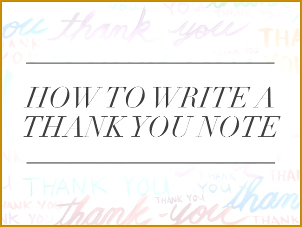 How to Write a Thank You Note 453604