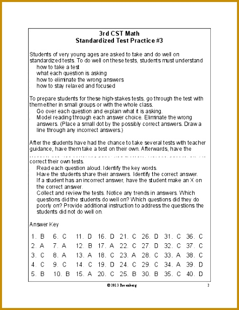 3Rd Grade Math Test Worksheets for all Download and Worksheets 613474
