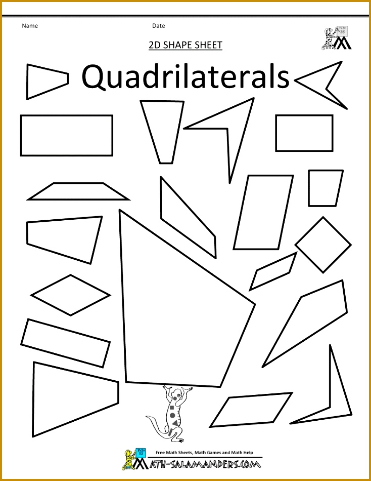 printables quadrilaterals worksheet eatfindr worksheets types of quadrilaterals worksheet grade classify math projects for high school 950734