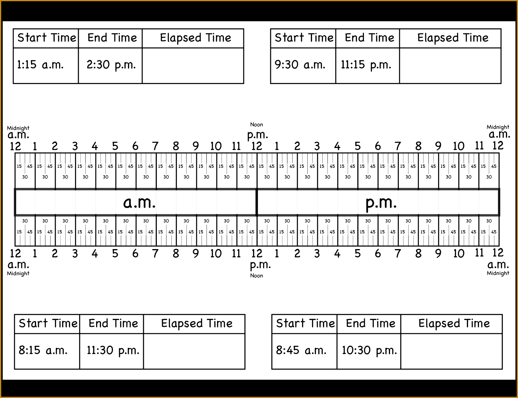Time Time – Clock Face Time – Draw the hands Time – Elapsed Time Time – Elapsed Time Ruler Time – Telling Time Calculate Elapsed Time Worksheets quarter 17531347