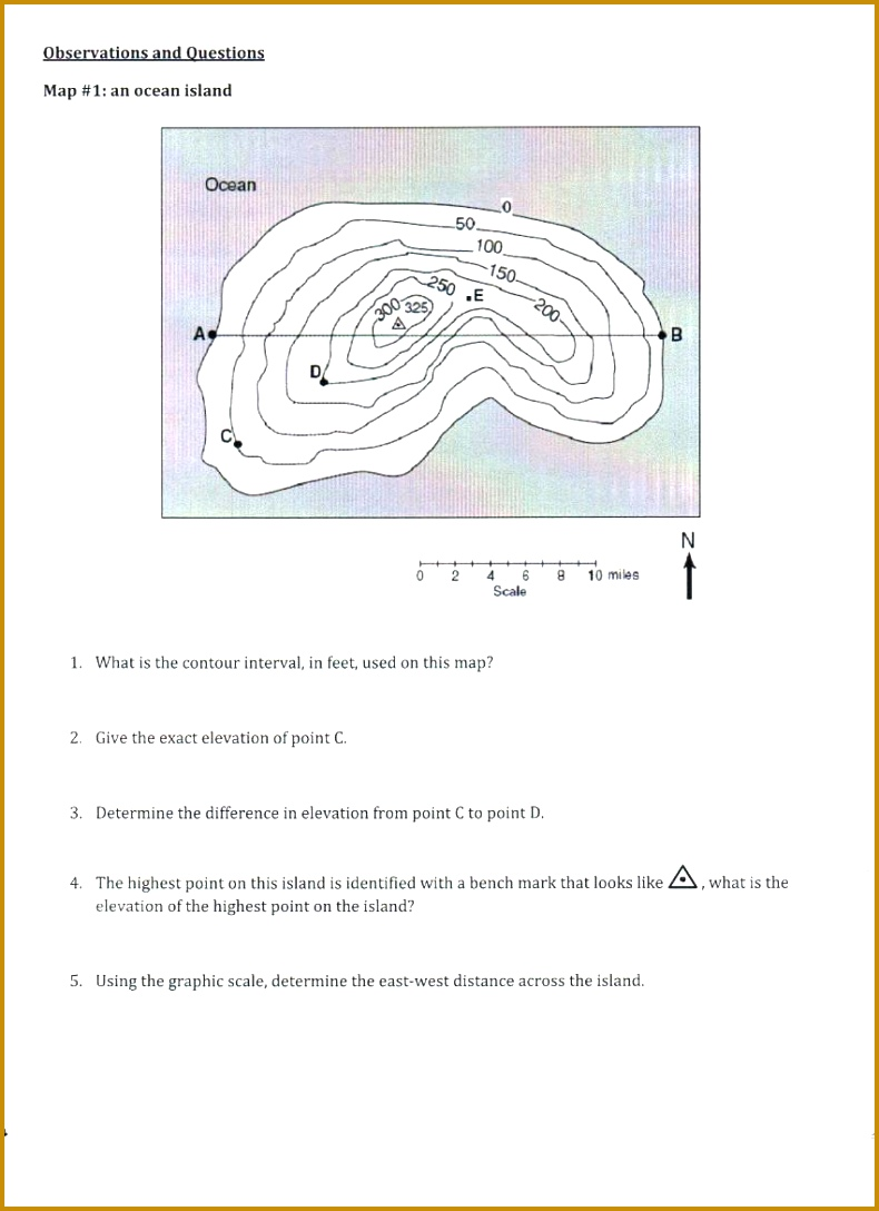 worksheet Map Reading Practice Worksheets Topographic Maps Worksheet Templates By Middle School Answers 1088790