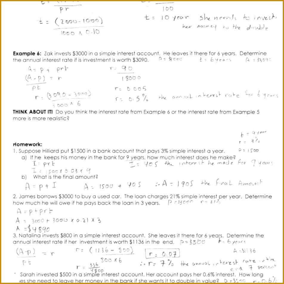 interest rate worksheet 952952