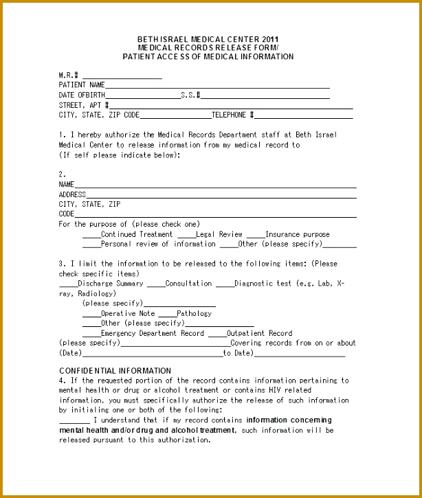 authorization letter to release medical information medical release forms for release form authorization letter to release 614725