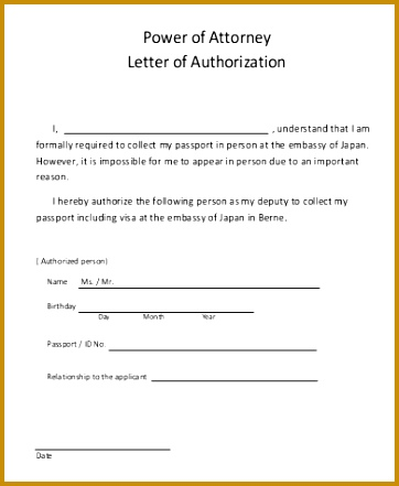 power of attorney authorization letter 441362