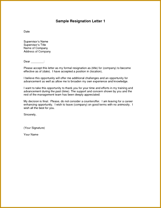 example of resignation letter Google Search 885684