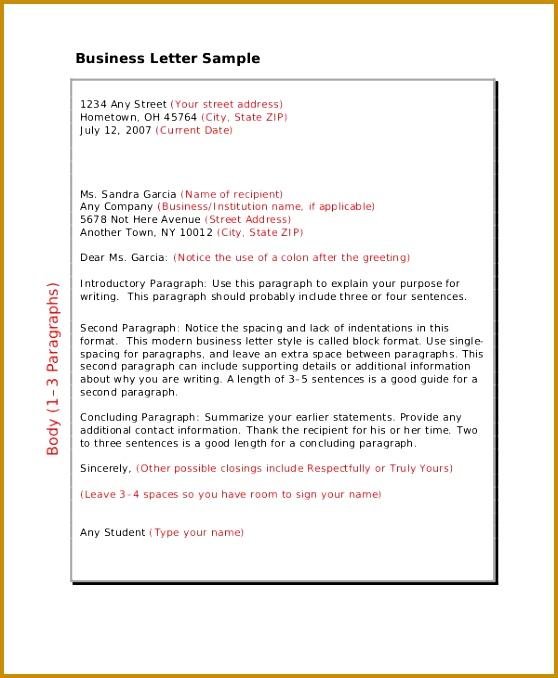 Sample Business Letter 678558