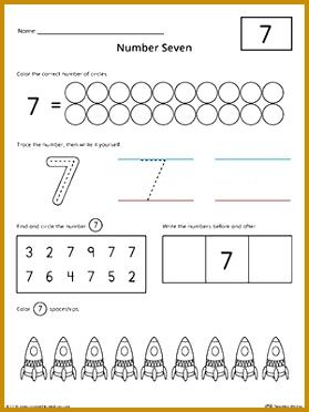 Number 7 Practice Worksheet 372279