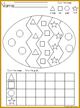 Easter Egg Shapes Graph for practice with shape recognition coloring and graphing 265357