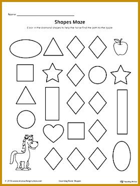 Diamond Shape Maze Printable Worksheet 372279
