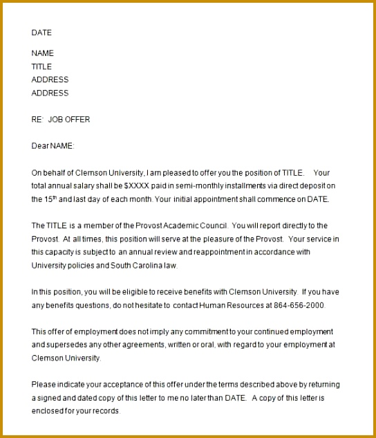 Candidate Report fer Letter Template 633544