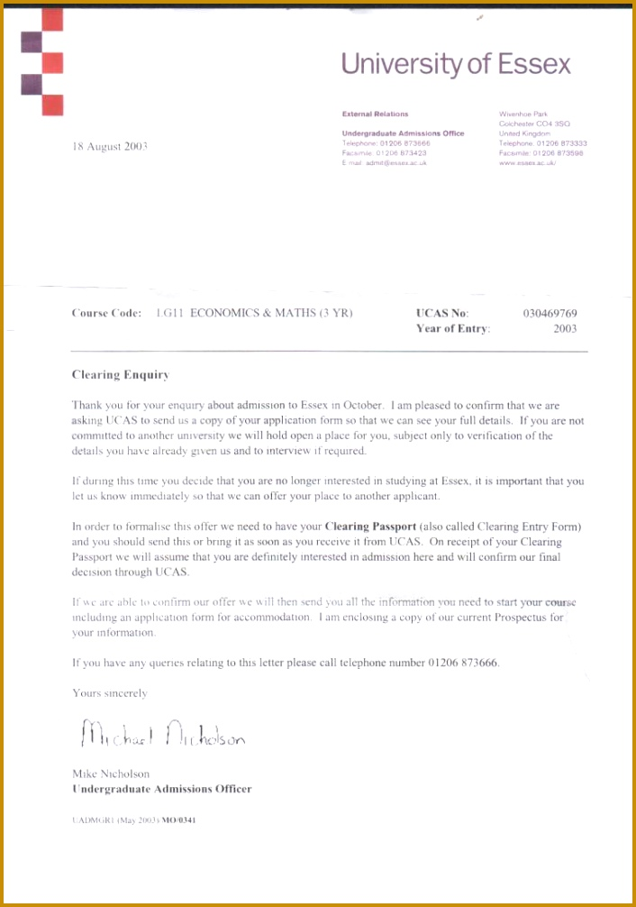 es acceptance letter studential 7061006