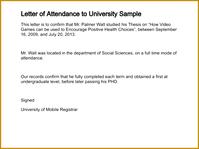 Letter Attendance in Confirmation Letter For Training Attendance 522697