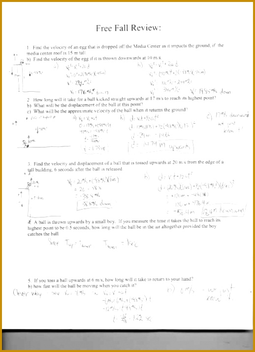physics friction worksheet freefall review Science math atomic structure worksheet 714518