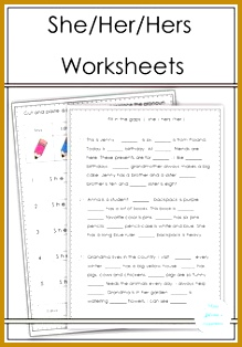She Her Hers Worksheets 314219