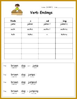 VERB ENDINGS FOR MON CORE LANGUAGE ARTS TeachersPayTeachers 325251