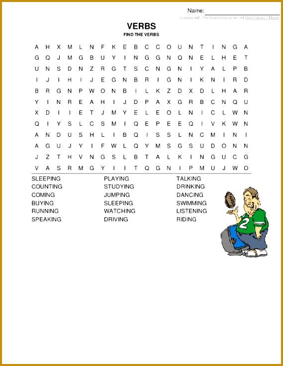 4 Verbs Worksheets Pdf