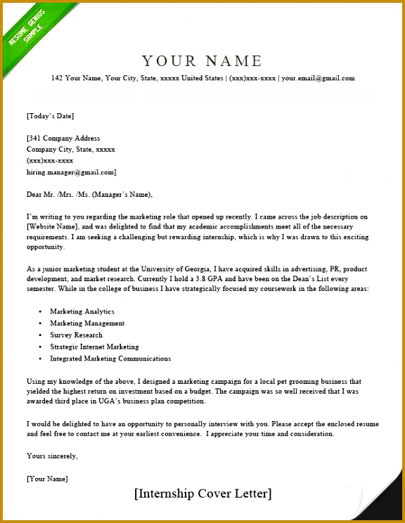 how to write a cover letter for internship internship cover letter sample resume genius 1 576744