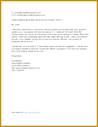 Sample Formal Email to Boss 409316