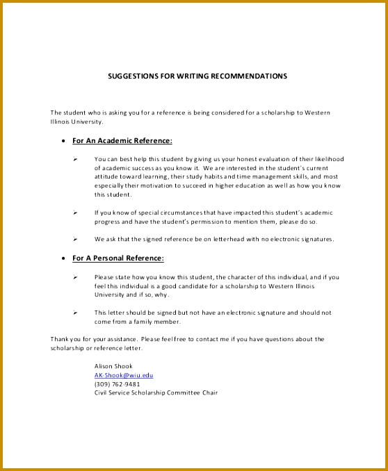 Personal Letter Re mendation 5 Sample Personal Reference Letter 558678