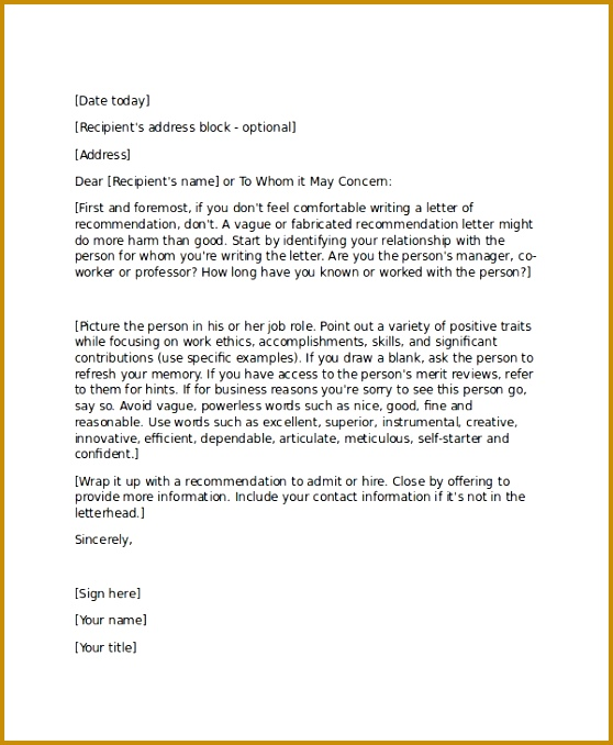 13 Professional Reference Letter Template – Free Sample Example throughout Job Reference Letter 678558