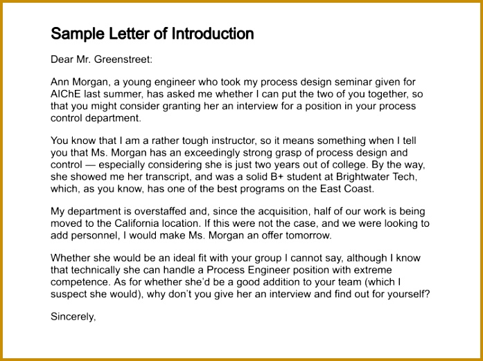 sample letter of introduction letter of introduction template 522697