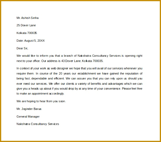 New Customer Letters Introduction Letter Idea 2018 Letter Introduction 481544
