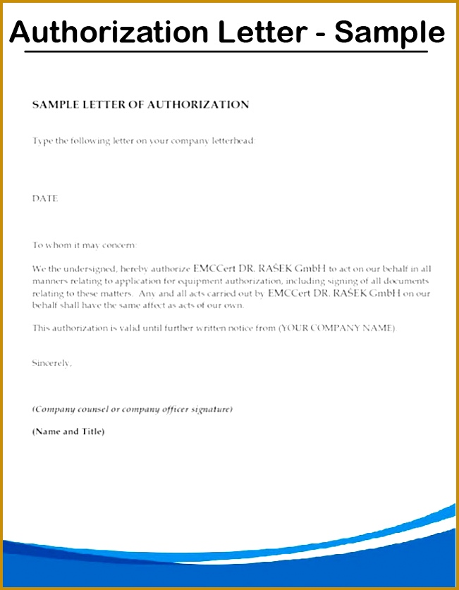 how to write an authorization letter writing an authorization letter 837651