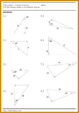 Inverse Function Worksheet Page 4 Answers 370260