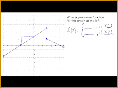 6 Worksheet Piecewise Functions