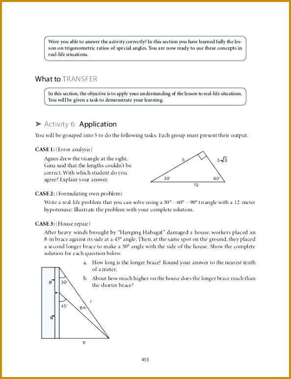Trigonometry Practice Coloring Activity Answer Key Trig