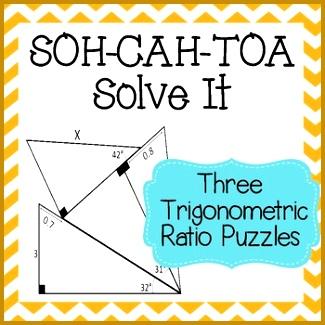 SOH CAH TOA Solve It 3 Sine Cosine & Tangent Puzzles 325325