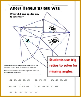 Angle Tangle Spider Web Solving for Angles with SohCahToa 325273